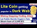 Lite Coin getting popular in Dark Web, Mining Stopping Finding Aliens, Bitcoin Scam
