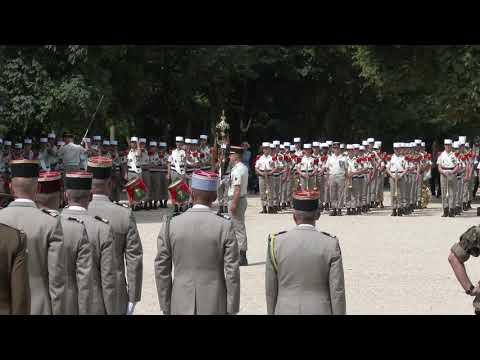 Prise d'armes de la Légion étrangère au Palais du Luxembourg Paris/France - 13 juillet 2017