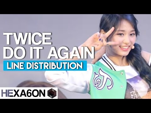 Thumbnail: Twice - Do it Again Line Distribution (Color Coded)