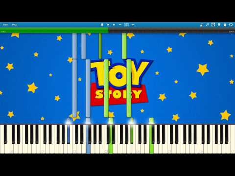 Toy Story 2 - When She Loved Me - Synthesia Piano Solo Tutorial