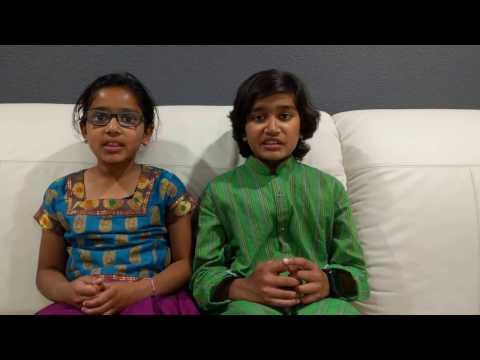 Rahul and Vibha chanting Chapter 17 of Bhagavadgita, śraddhā-traya-vibhāga yogaḥ