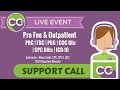 CCO Support Call: Pro Fee and Outpatient 02.07.2017