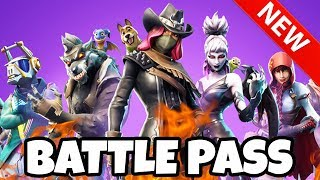 FORTNITE SEASON 6 BATTLE PASS - All 100 levels at a glance 🔥