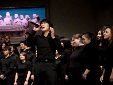 My Help  University of Washington gospel choir with soloist James Won