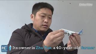 A DREAM liner! Chinese farmer builds own full-size Airbus A320