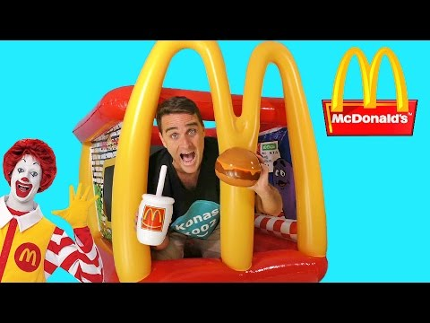Giant McDonalds Inflatable Drive Thru Playland !    Toy Review    Konas2002