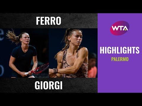 WTA Palermo semifinals | Fiona Ferro vs. Camila Giorgi