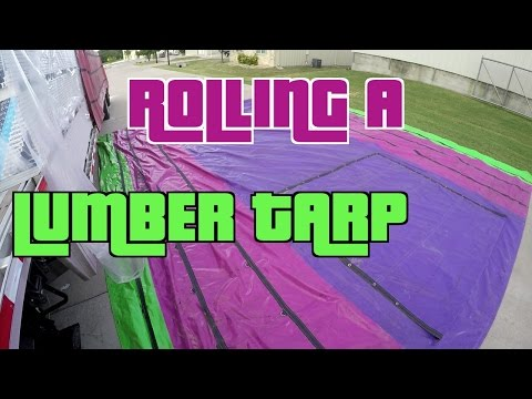 How To Fold And Roll A 6' Drop Lumber Tarp.