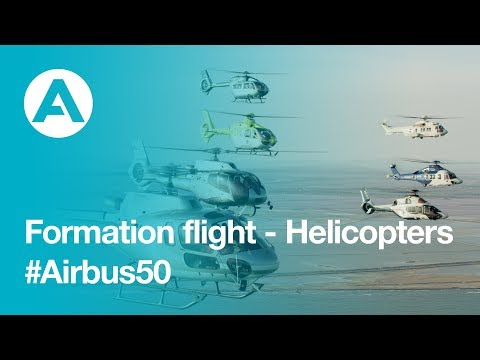 Airbus Helicopters formation flight: 50-year anniversary