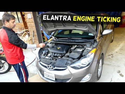 HYUNDAI ELANTRA ENGINE KNOCK TICKING NOISE