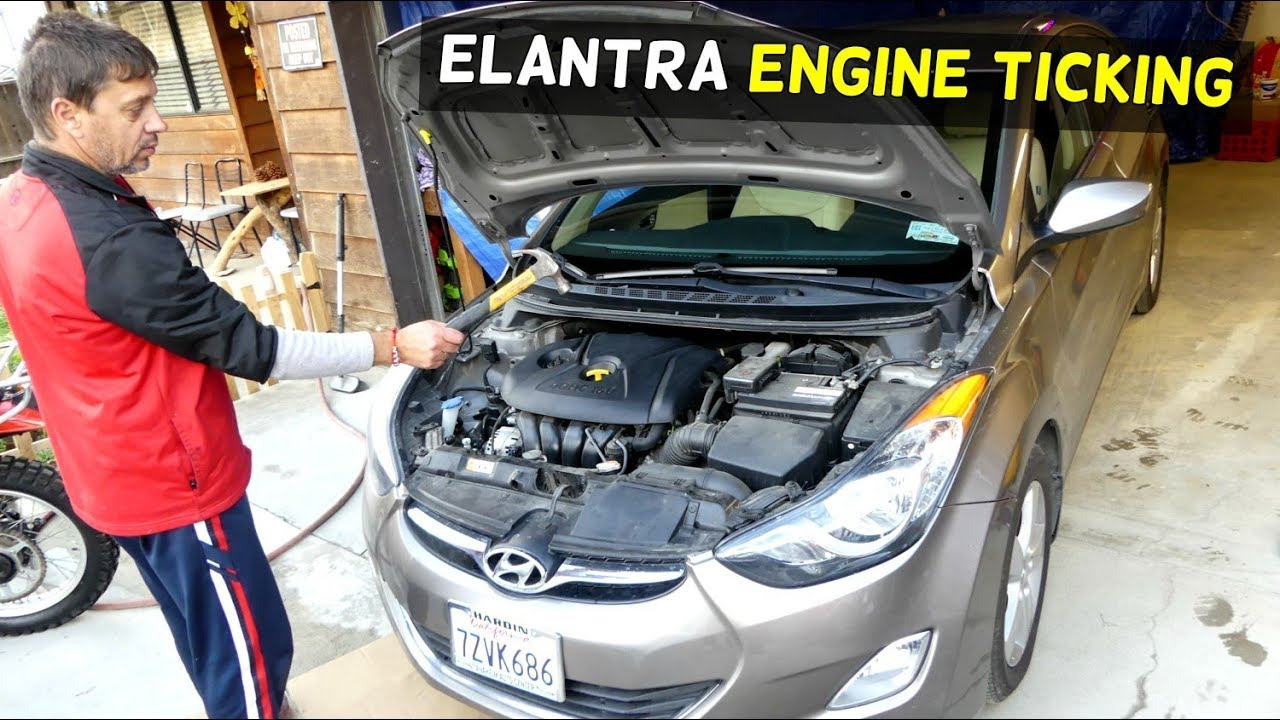 HYUNDAI ELANTRA ENGINE KNOCK TICKING NOISE