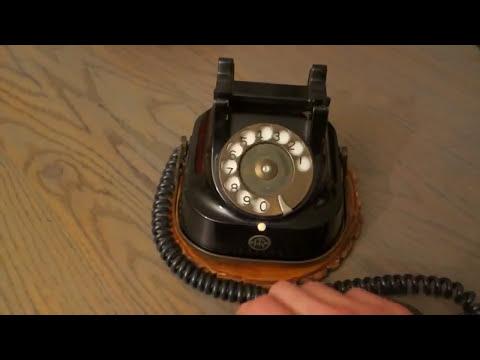 Портативный дисковый ретро телефон