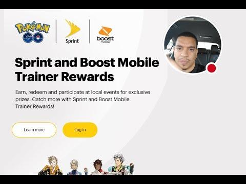 Pokemon Promo Codes At Sprint ...sign up at sprint.com/pokemongo then earn rewards