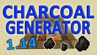 Minecraft Automatic Charcoal Generator 1.14   1.15  & 1.16 (Charcoal Fuel Farm)