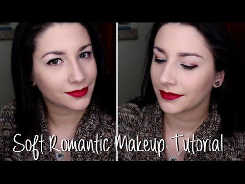 soft-romantic-makeup-tutorial-:-mac-ruby-woo-lipstick