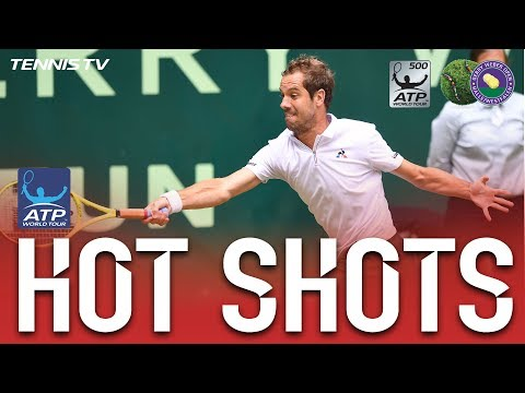 Gasquet Nails Impossible Hot Shot At Halle 2017