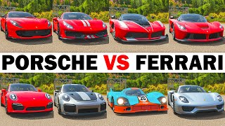 FH4 Acceleration Battle   LaFerrari, 918 Spyder, 488 Pista, GT2 RS, 812 SF, Carrera GT, FXXK & More!