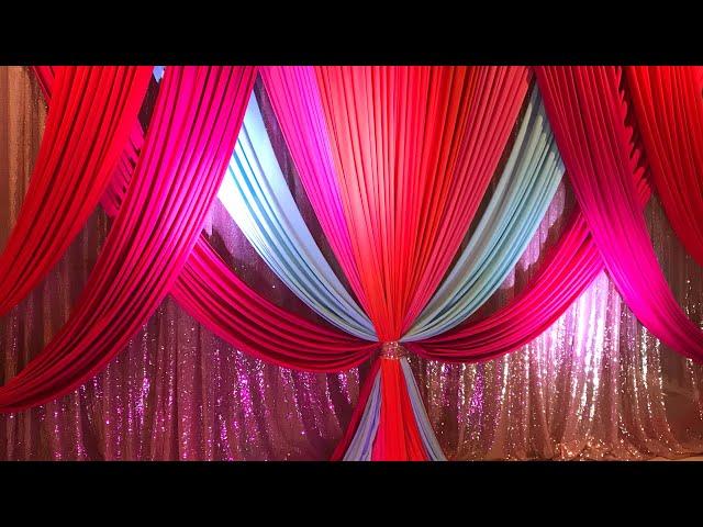DIY - Draping Diy - Canopy Decor Diy- Mehndi/Sangeet Decor Diy Wedding Decor
