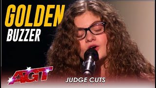 "Sophie Pecora: Teen Artist Sings ""Misfits"" And Gets GOLDEN BUZZER! 