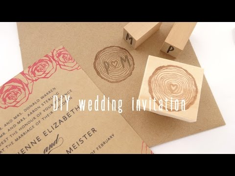 DIY wedding invitationJapanese Rubber Stamps YouTube