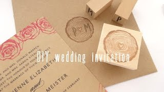 DIY wedding invitation【Japanese Rubber Stamps】