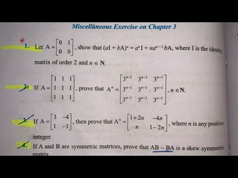 Download MISCELLANEOUS EX Q1 TO Q15  SOLUTIONS OF MATRICES NCERT CHAPTER 3 CLASS 12th