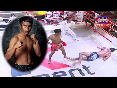 Kun Khmer, Khim Dima Vs Thai, Khun Krongtheb, SEATV boxing, 21 April 2017, K Cement arena