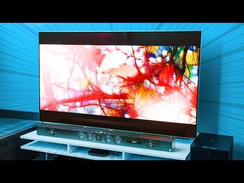 Overkill Office Upgrade - Big Screen TV & Dolby Atmos Speakerbar Showcase