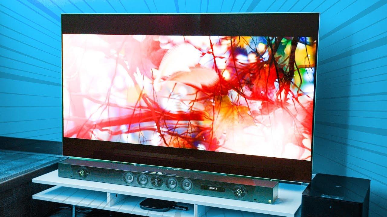 Overkill Office Upgrade Big Screen TV U0026 Dolby Atmos