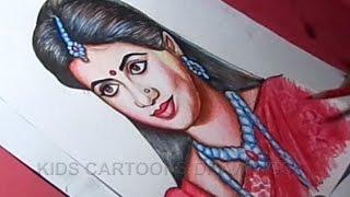 Rama Seetha Serial Heroine Preethi Srinivas Drawing
