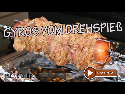 Drehspieß Für Gasgrill : Gyros vom drehspieß gyros vom gasgrill sizzlebrothers youtube