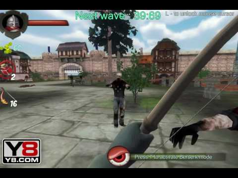 Y8 Games Free Y8 Zombies Vs Berserk 3d Youtube