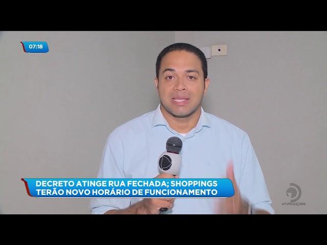 Coronavírus: Decreto do prefeito Rui Palmeira altera horário de funcionamento dos shoppings