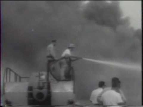 Port of New York Chemical Fire 1959 New Jersey