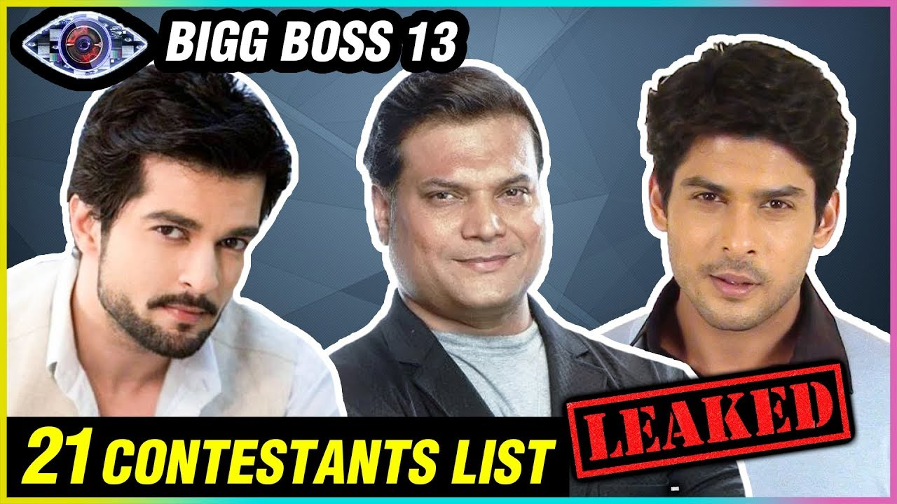 Bigg Boss 13 21 Contestants List Leaked Cid S Daya Ankita Lokhande Zareen Khan Kim Sharma