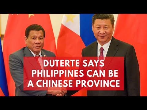Rodrigo Duterte suggests Beijing should make the Philippines 'a province of China'