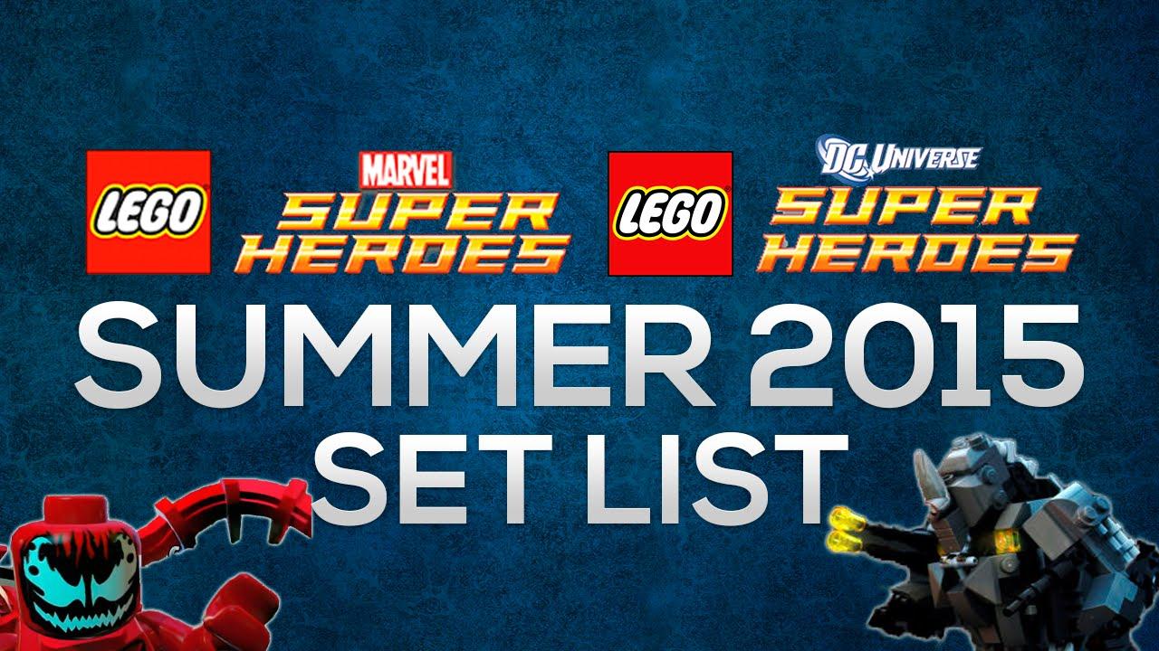 LEGO Super Heroes Summer 2015 Rumored Set List - YouTube