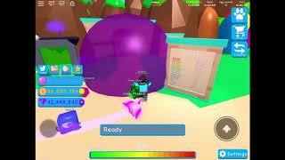 Getting 20MIL bubbles blown ROBLOX bubblegum simulator