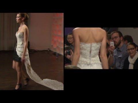 Models hit runway in 3D printed clothing