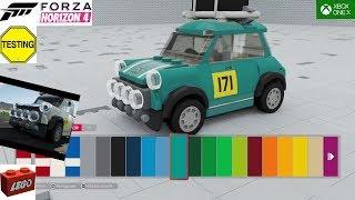 Mini cooper Lego speed champions Forza Horizon 4 DLC TEST FRANCAIS DECOUVERTE VOITURE 75894