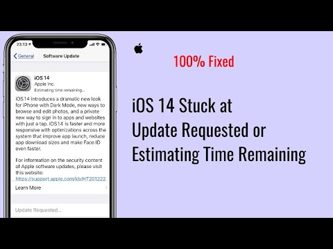 IOS 14 Update Stuck On Estimating Time Remaining And Update Requested On IPhone And IPad - Fixed