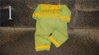 Как связать детский комбинезон (вязание спицами) 1