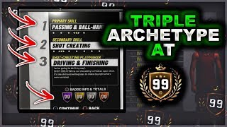 BUILDS that BECOME TRIPLE ARCHETYPES at 99 OVERALL in NBA2K19