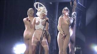 Repeat youtube video Lady Gaga - American Music Awards Bad Romance / Speechless live 2009 HD