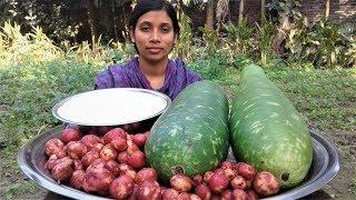 Village Food Lau Vaat Bangla Recipe | Bottle Gourd and Rice Cooking By Street Village Food