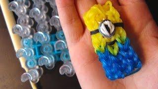 как сделать миньона из разноцветных  резинок. Minion from rainbow loom bans