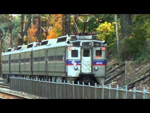 SEPTA Link Belt VIA Center CIty local train departing Paoli