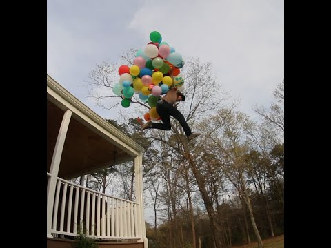 JUMPING OFF ROOF W/BALLOONS