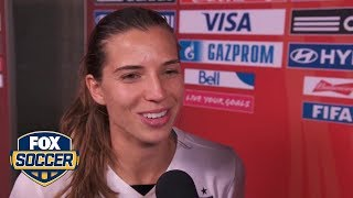 Tobin Heath describes locker room celebration after World Cup win