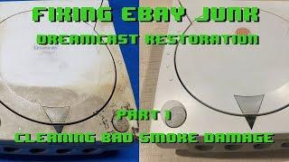 Fixing eBay Junk - Dreamcast Restoration - Part 1 - Smoke Damaged Sega Dreamcast